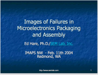 Images of Failures in Microelectronics Packaging and Assembly