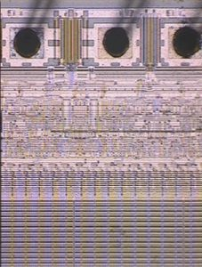 Optical image of a decapsulated EEPROM