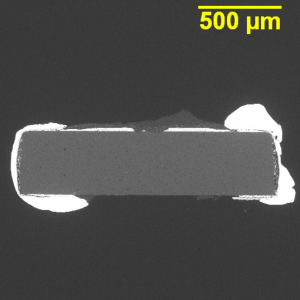 Chip resistor microsection.